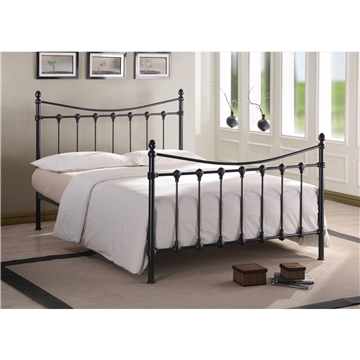 Florida Black Metal Bed Frame King Size 5ft Free Next Day Delivery