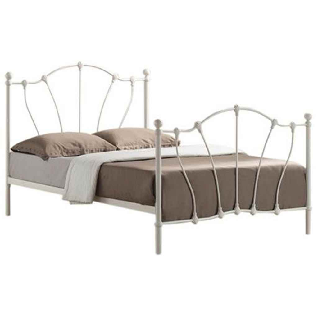 Victorian Style Metal Bed Frames : Ivory victorian style metal bed frame double ft quot