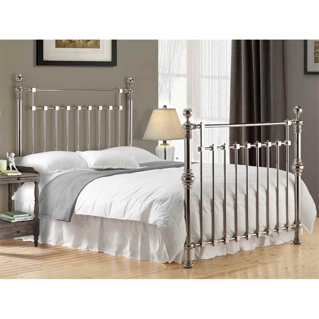 Time Living Exclusive Beds. chrome squared metal bed frame king 5ft ...