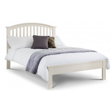 Tall Arched Stone White Bed Frame - Double 4\'6\